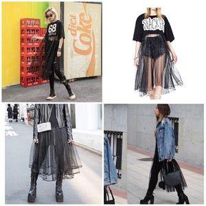 Dresses & Skirts - Animal T-Shirt with Sheer Skirt